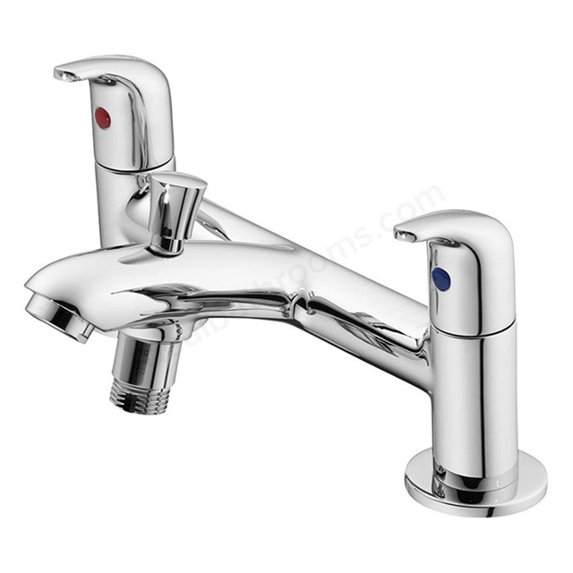Ideal Standard OPUS Bath Shower Mixer Tap, No Shower Kit, 2 Tap Hole, Chrome
