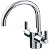 Ideal Standard SILVER Basin Mixer Tap; Dual Control; with Pop Up Waste; 1 Tap Hole; Chrome