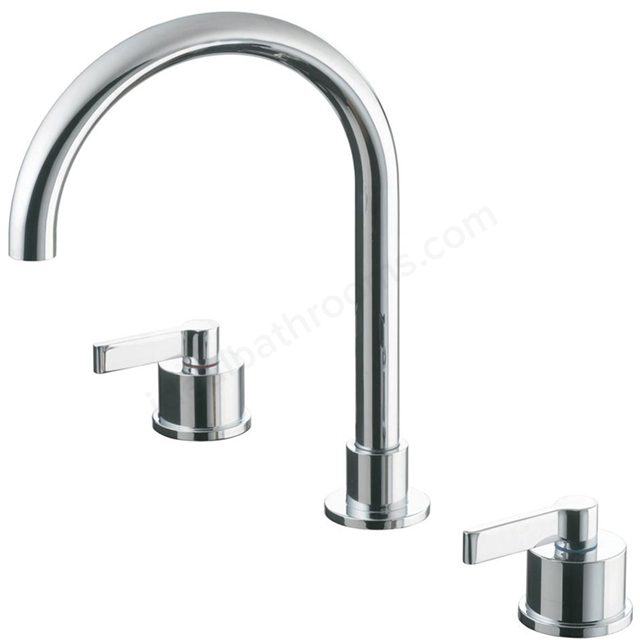 Ideal Standard SILVER Basin Mixer Tap, with Pop Up Waste, 3 Tap Hole, Chrome