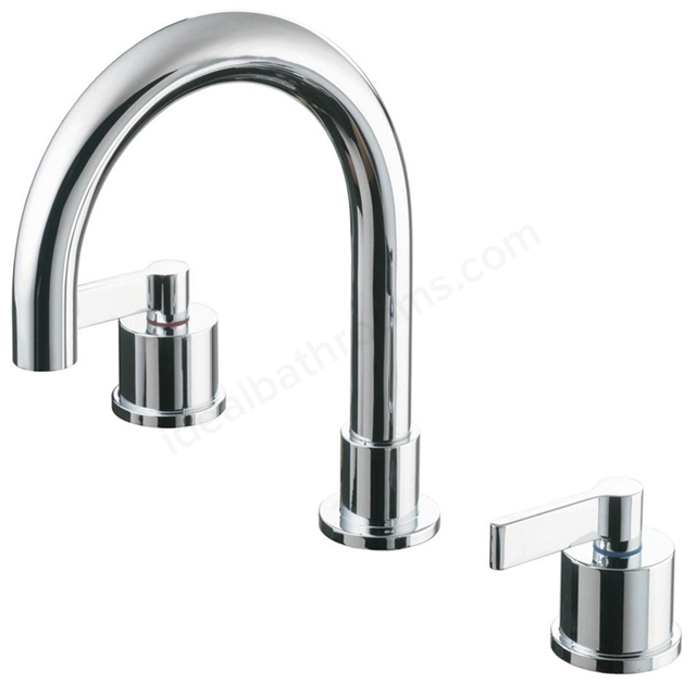 Ideal Standard SILVER Bath Filler Tap, 3 Tap Hole, Chrome