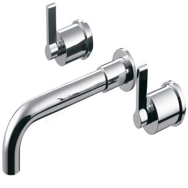 Ideal Standard SILVER Wall Bath Filler Tap, 3 Tap Hole, Chrome