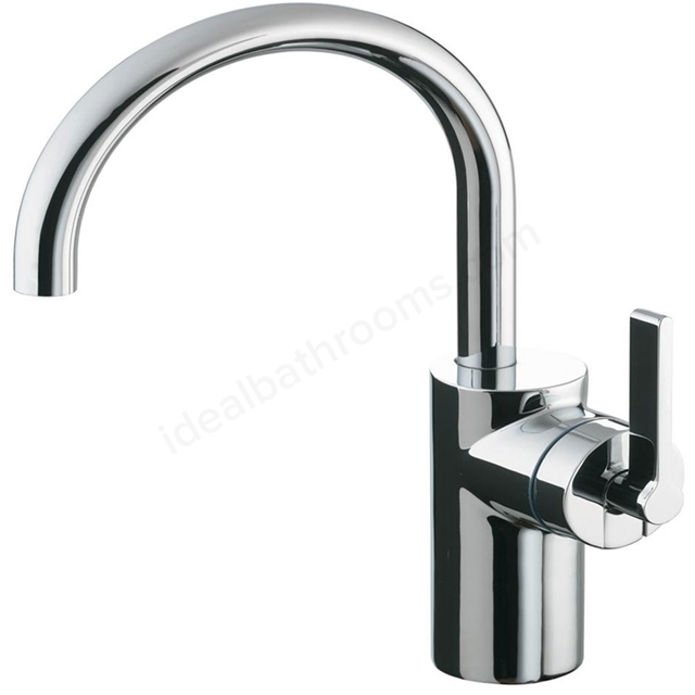 Ideal Standard SILVER Basin Mixer Tap, for Vessel Basins, No Waste, 1 Tap Hole, Chrome