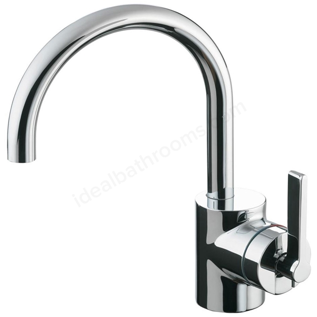 Ideal Standard SILVER Basin Mixer Tap, with Pop Up Waste, 1 Tap Hole, Chrome